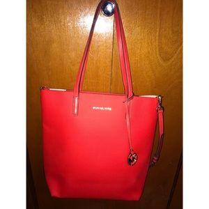 Red leather Michael Kors bag